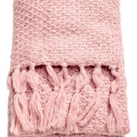 Moss-knit blanket - Light pink - Home All | H&M GB