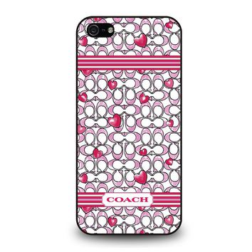 COACH NEW YORK LOVE iPhone 5 / 5S / SE Case Cover