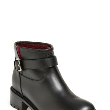 Women's Fendi 'Military' Genuine Shearling Lined Ankle Boot