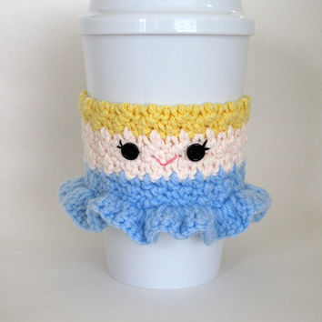 Crochet Cinderella Princess Coffee Cup Cozy