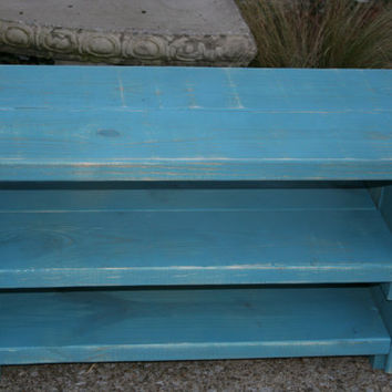 Wood Shoe Storage / Bench Shoe Storage / shoe bench / mud room / entry shoe rack / shoe holder / shoe bin / shoe organizer / coastal