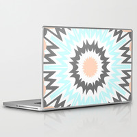 Peach to Baby Blue Laptop & iPad Skin by Abstracts by Josrick