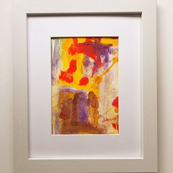 016 Original Abstract  Art on Paper. Free-shipping within USA.