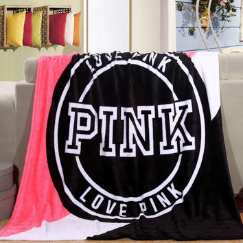 Blanket Victoria/'s secret Fleece Bedding Throws on the bed/Sofa/Car Portable Plaids Bedspread Gift Hot sale