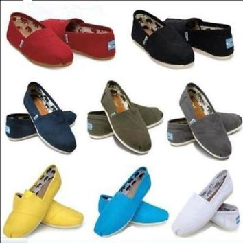 Women Classics TOM Loafers Canvas Slip-On Flats shoes Size 5-10