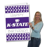 Kansas State University 2'x3' Giant Birthday Greeting Card Plus Yard Sign