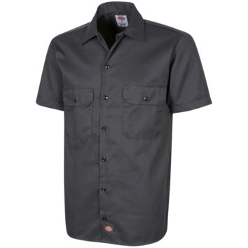 Plain Dickies Men's Short Sleeve Workshirt