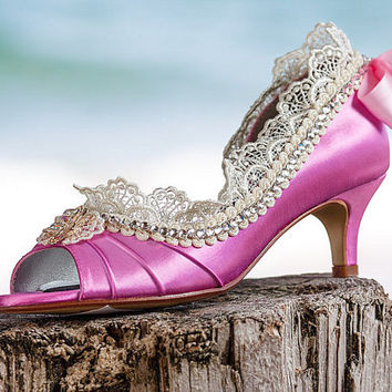 Marie Antoinette wedding shoes, Swarovski Crystal shoes