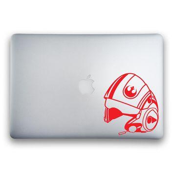 Poe Dameron's X-Wing Helmet from Star Wars: The Force Awakens Sticker for MacBooks and Apple Devices