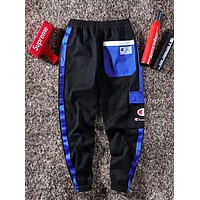 Champion Fashion New Letter Print Sports Leisure Women Men Pants Black
