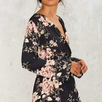 Floral to Ceiling Plunging Romper