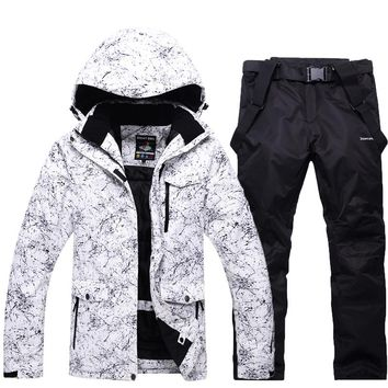 Snowboarding sets Women Men Professional Ski suits Warm Windproof Waterproof Snow skiing jacket+pant Outdoor Winter Clothes