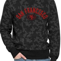 Men's 47 Brand 'San Francisco 49ers - Stealth' Camo Crewneck Sweatshirt,