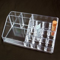 "Ikee Design® Acrylic Lipstick and Brush Organizer 8 3/4""w X 5""d X 3 1/8""h"