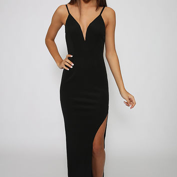 Goodbye Kiss Dress - Black