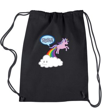 Toot Unicorn Farting Drawstring Backpack