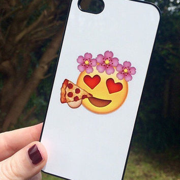 Iphone 5 5S Phone Case Emoji Icons Faces Print Hipster Phone Cover