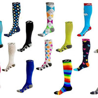 Compression Socks (1 pair) for Women & Men by A-Swift - Best For Running, Athlet