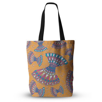"Miranda Mol ""Tribal Fun Orange"" Abstract Tangerine Everything Tote Bag"