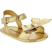 Metallic Bow-Tie Sandals for Baby | Old Navy