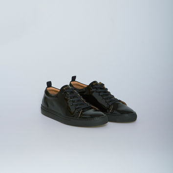 Nahariya Patent Leather Trainer 3 Sneaker in Black