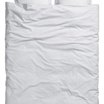 Washed linen duvet cover set - White - Home All | H&M GB