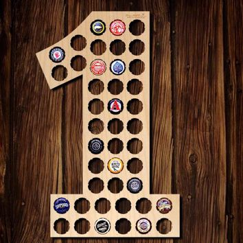 Number One Beer Cap Map