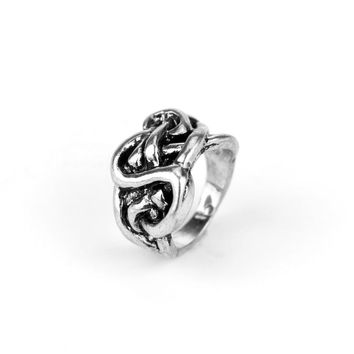 Cool Lord Ring Simple Retro Vintage Silver Plated Wedding Rings For Women & Men Movie Jewelry Accessories