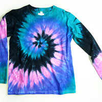 Ladies Long Sleeve Tie Dye Shirt Womens T by SunflowerTieDyes