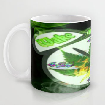 WAKE & BAKE Mug by Lilbudscorner
