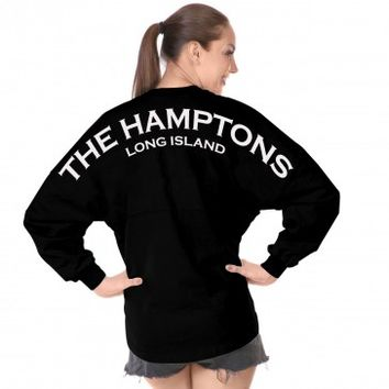 The Hamptons Long Island - Classic Unisex Long Sleeve, Crew Neck Spirit Jersey®