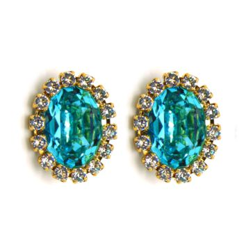 Magical Treasures Earrings: Light Turquoise Swarovski® Crystals