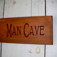 Rustic MAN CAVE Sign Guy Gift Primitive wooden by AndTheSignSays