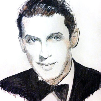 Portrait of James Stewart - Original Artwork