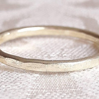 Solid Gold Wedding Band - 14 Karat Gold Ring - Yellow Gold Wedding Ring - White Gold Ring - 1.5mm Gold Band