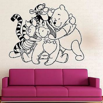 Wall Stickers Vinyl Decal Nursery Winnie The Pooh Cartoon Baby Room Unique Gift (ig1056)