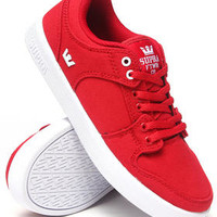Vaider Lc Red Canvas Sneakers (Kids)