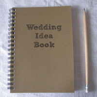 Wedding Idea Book  5 x 7 journal by JournalingJane on Etsy