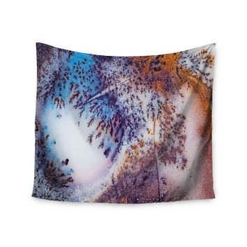 "KESS Original ""Snow Agate"" Blue Orange Wall Tapestry"