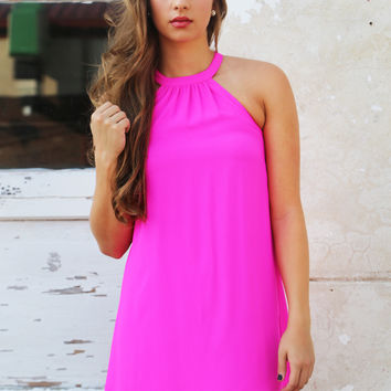 Harbor Talks Halter Dress