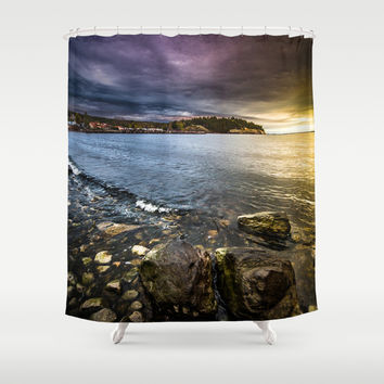 Time to head home Shower Curtain by HappyMelvin