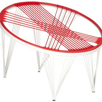Launchpad Papasan Style Chair Red