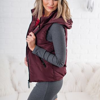 All Star Puffy Vest (Burgundy)
