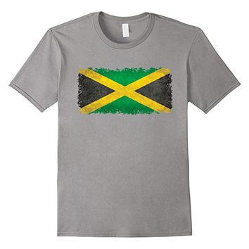 Flag Of Jamaica T-Shirt in Vintage Retro Style
