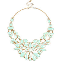 River Island Womens Green enamel statement necklace