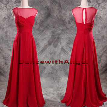 Sexy red chiffon ruffle long party prom dresses,prom dress,long prom dress,bridesmaid dresses,evening dresses,bridesmaid dress,evening dress