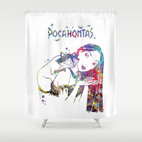 Pocahontas and Meeko Shower Curtain by Bitter Moon