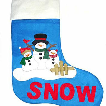Snowman Christmas Stocking - Made Of Felt