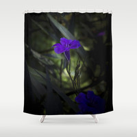 Violet flowers Shower Curtain by vanessagf
