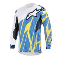 2015 Alpinestars Techstar Mx Motocross Jersey - Blue Yellow White - 2015 Alpinestars Motocross Jerseys - 2015 Alpinestars